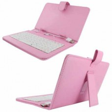 Case with keyboard for tablet K-02 # 8'' type the name without USB 2.0 ,No brand, pink - 14682