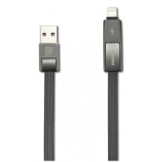 Кабел за данни 2 в 1, micro USB  Iphone Lighting, Remax Strive RC-042t, 1м, Черен - 14335