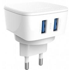 Network charger LDNIO DL-AC63 DC12-24V 5V/2,4A Universal, 2 х USB - 14280