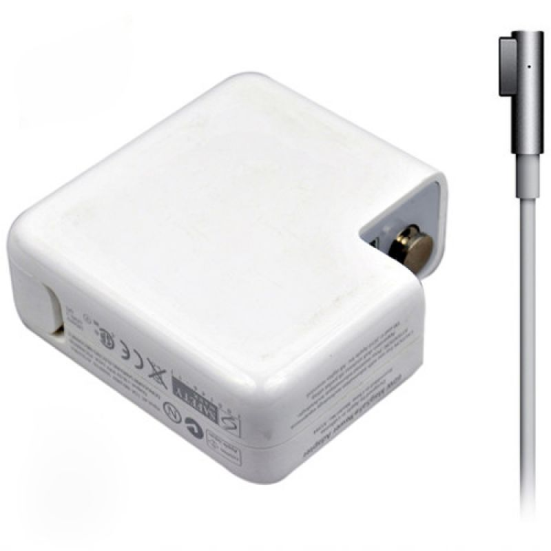 Adapter DeTech for Apple 85W 18.5V/4.65A magnetic 5 pin 2 pin, White - 279 - 279
