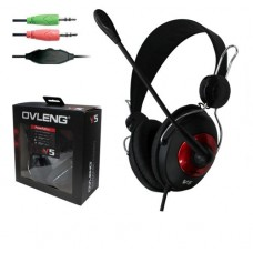 Headsets Ovleng V 5 for computer with microphone, Black - 20217