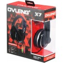 Headsets Ovleng X-7 for computer with microphone, Black - 20222 - 20222