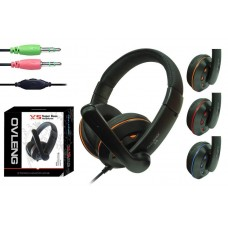 Headsets Ovleng X-5 for computer with microphone, Black - 20223