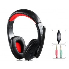 Headsets Ovleng X-12 for computer with microphone, Black - 20227