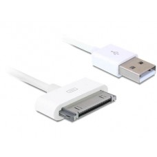 Data cable DeTech for iPhone 4/4s/Ipad,1m, White - 18159