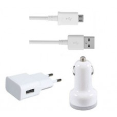 Set car charger and network charger 3 in 1 DT Travel 12/220v 5v/2A Universal, with cable Micro USB - 14263