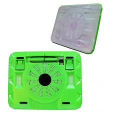 Охладител за лаптоп No brand, 15.6'' ,USB, Зелен - 15034
