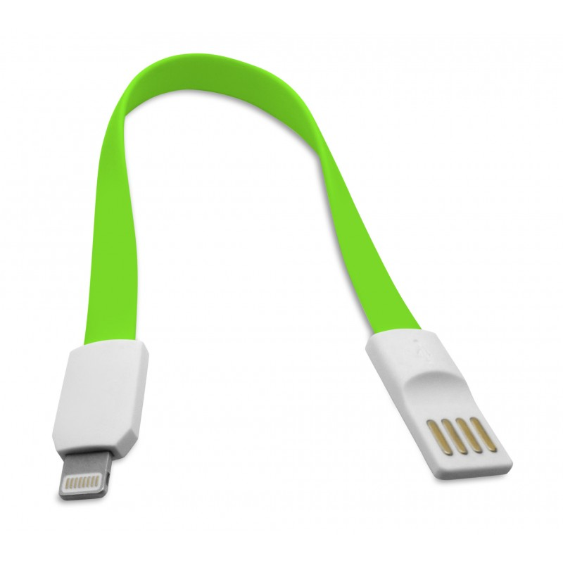 Data cable No brand Lightning - USB , iPhone 5/5s: 6,6S / 6plus,6S plus IPAD4/Mini, 22сm, Flat, With magnet - 14247 - 14247