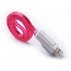 Data cable No brand USB - micro USB, Flat, illuminated, 1m - 14253