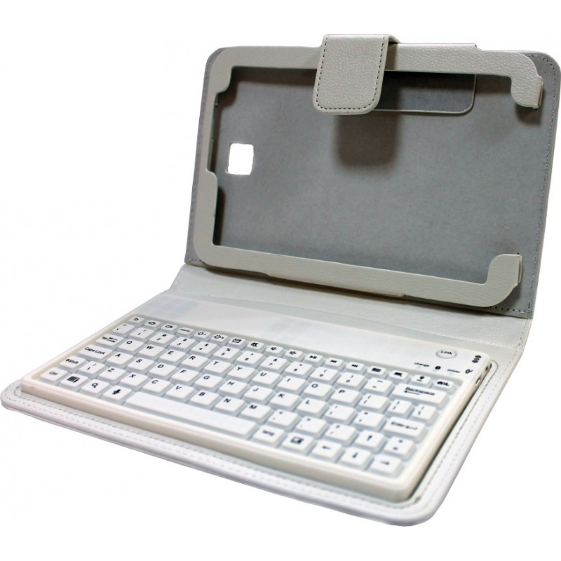 """Keyboard cover bluetooth for Samsung Tab3 8 """"S-BT5200, No brand, white - 14701 - 14701"""