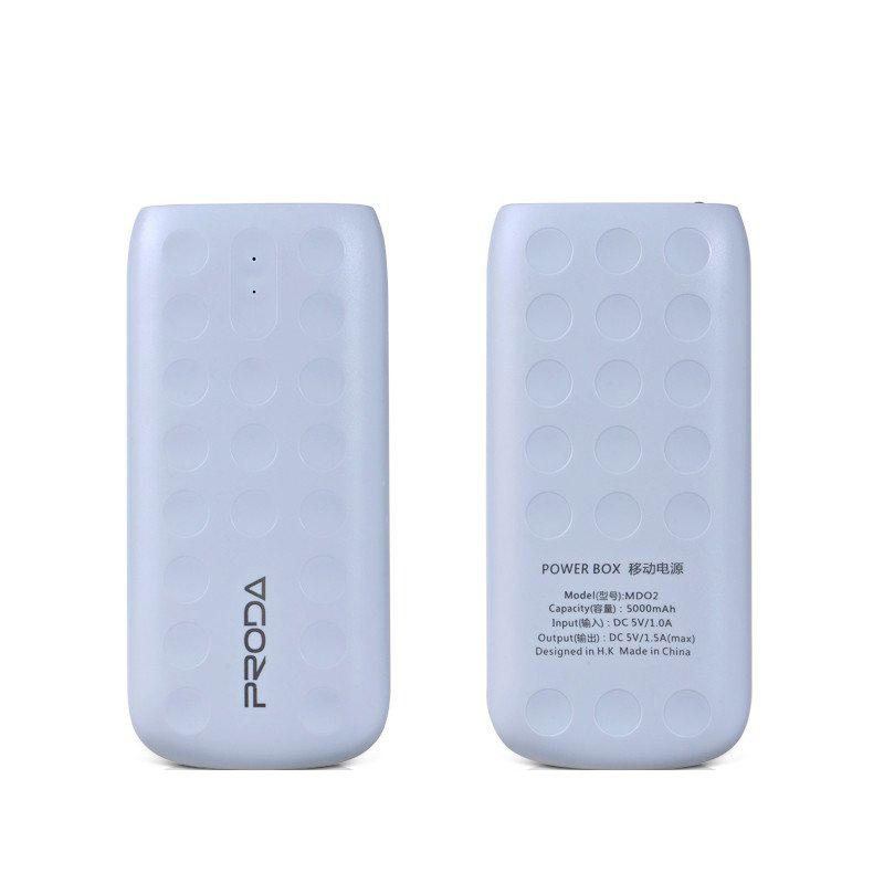 Power bank, Remax Lovely, 5000mAh, White - 87024 - 87024