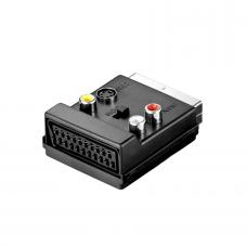 Adapter, No brand, SCART to AV, Black - 17105